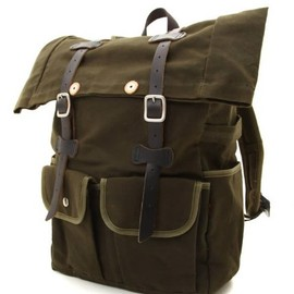 ARTS&CRAFTS - Waxed Canvas Roll-Top Daypack