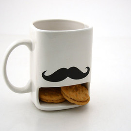 Set of Two Mustache Moustache Espresso Cup and Saucers