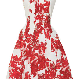 THOM BROWNE - Lace Printed Crepe De Chine Dress