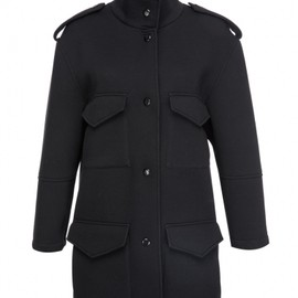 FrontRowShop - Four pockets detail oversized coat -