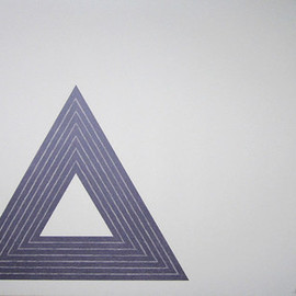 """Frank Stella - FRANK STELLA Signed 1972 Original Color Lithograph from """"The Purple Series"""""""