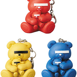 MEDICOM TOY - KEYCHAIN UNDERCOVER BEAR RED/YELLOW/BLUE