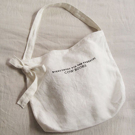 Cow Books - Linen Shoulder Totebag