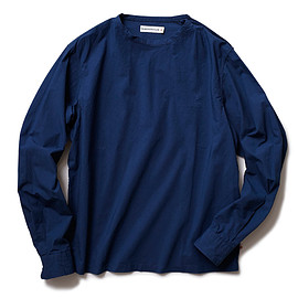 HEAD PORTER PLUS - CREW NECK SHIRT NAVY