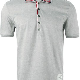 Thom Browne - piped collar polo shirt