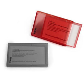 MoMA - Transparent Card Case Red