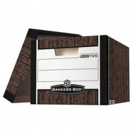 Fellowes - Officemax bankers Box R Kive Storage Boxes, Letter/Legal, Woodgrain