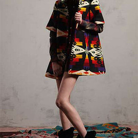 pendleton×opening ceremony - half sleeve coat