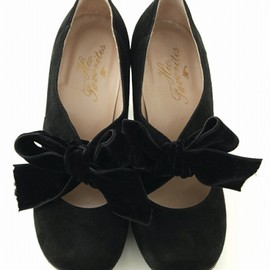 hio - velvet ribbon pumps