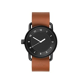 TID Watches - TID No.1 Black/ Tan Leather Wristband