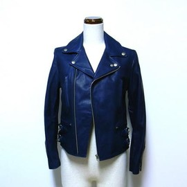 beautiful people - horse hide riders jacket (NAVY)