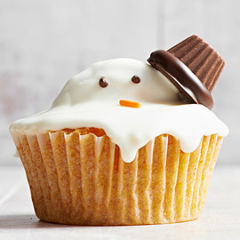 Melty Snowman Cupcake