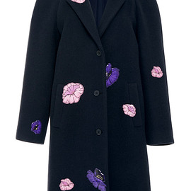 Christopher Kane - Pre-Fall 2015 Christopher Kane Crombie Coat With Flower Stickers