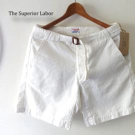 THE SUPERIOR LABOR - 【THE SUPERIORLABOR】SL227/Holiday Shorts(WHITE)
