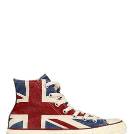CONVERSE - UK FLAG DISTRESSED CANVAS SNEAKERS