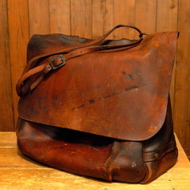 MERIT LETHER STRAP co,inc. - 60s U.S.MAIL Leather Bag