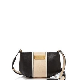 MARC BY MARC JACOBS - New Q Percy Croc Embossed Leather Crossbody Bag