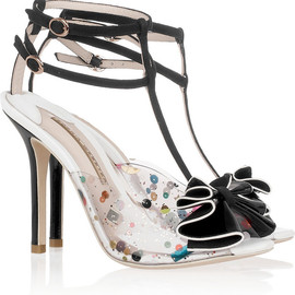 SOPHIA WEBSTER - Lana embellished PVC and suede sandals