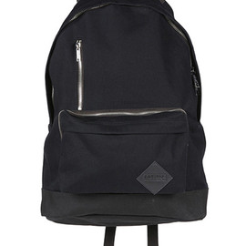 KRIS VAN ASSCHE×EASTPAK - EASTPAK BACKPACK WITH ZIP POCKETS (SOFT) BLACK