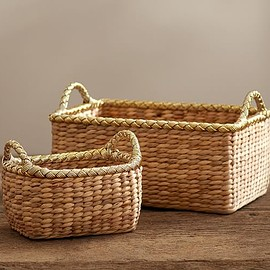 pottery barn - Metallic Rim Utility Baskets