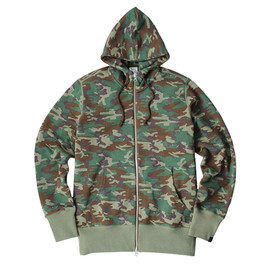 LOOPWHEELER - LW Light Camouflage High-neck Hoodie