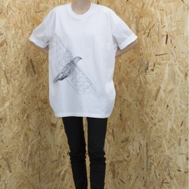 MARIOS - Loose t-shirt with embroidery bird