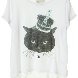 Lagunamoon - KING BLACK CAT Tシャツ