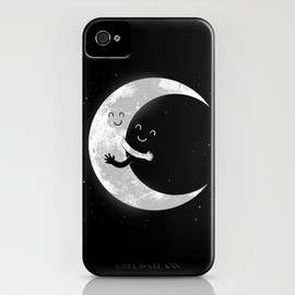 Carbine - Moon Hug iPhone Case