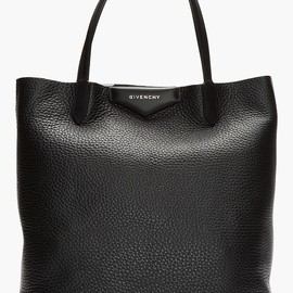 GIVENCHY - GIVENCHY Black & White Leather Antigona Shopper Tote