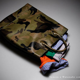Vanson x Junya Watanabe - Vanson x Junya Watanabe MAN Camouflage Leather Bag