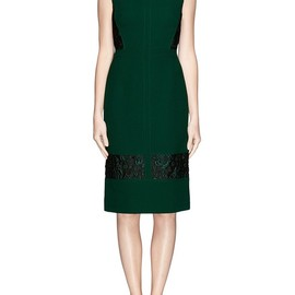 Erdem - 'FALDO' WOOL CREPE FLORAL JACQUARD DRESS