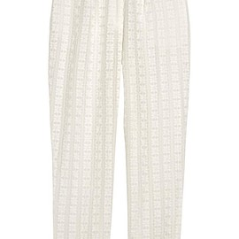 Zimmermann - Zephyr broderie anglaise cotton and silk-blend tapered pants