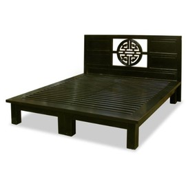 ChinaFurnitureOnline - Asian Yuan-Yuan King Size Platform Bed - Black