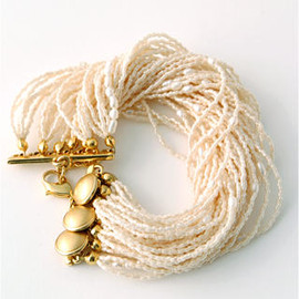 mosslight - twist pearl  bracelet