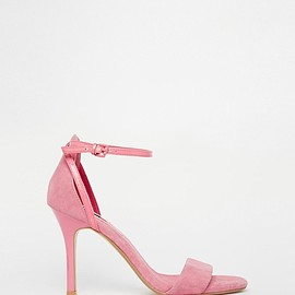 Dune - Madeira Pink Barely There Heeled Sandals