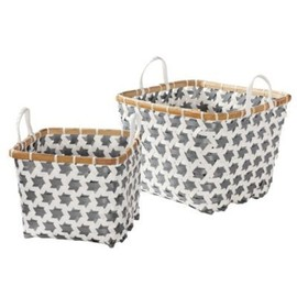 Pewter Mercado Baskets // Serena + Lily
