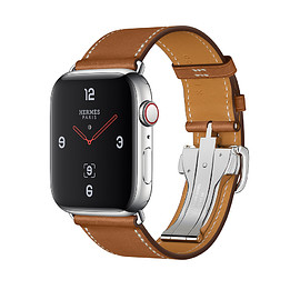 Apple, Hermès - WATCH Hermès SERIES 4: Leather Single Tour Deployment Buckle