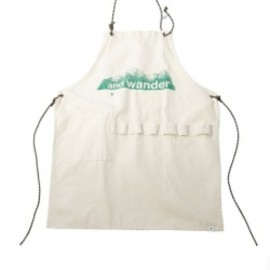 and wander - printed canvas apron