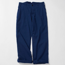 MHL. - NATURAL DYE TWILL BUCKLE PANTS