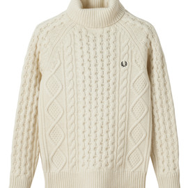 Fred Perry - British Knitting Men - Classic Aran Roll Neck Knit