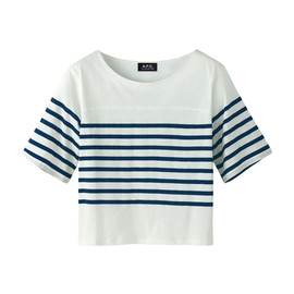 A.P.C. - SHORT BASEBALL T-SHIRT