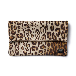 "HEAD PORTER - ""LEOPARD"" CLUTCH BAG"