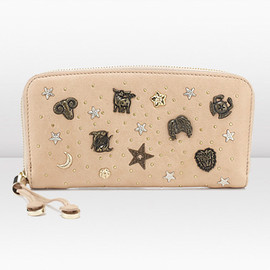 Roxi studded leather and glossed-elaphe shoulder bag