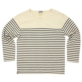 LEVI'S VINTAGE CLOTHING - bay meadows Border L/S Tee (vintage long sleeve stripe  tee) (white/blue)