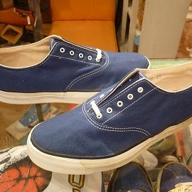 "TOP SIDER - 「<deadstock>70's TOP SIEDR OXFORD navy""made in USA"" size:US8(26cm) 12800yen」完売"