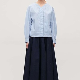 Cos - Cos striped circle-shape shirt in blue