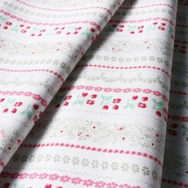 blend fabrics - Vintage Summer Cherry Stripe Khaki