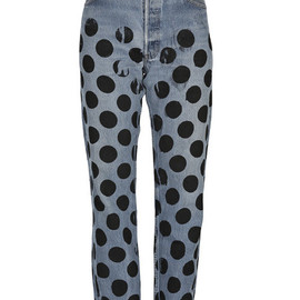 HOUSE OF HOLLAND FOR LULU & CO - POLKA DOT UNISEX VINTAGE JEANS