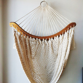 Vintage Hammock Chair / Fishnet, Egg Chair, Sling Chair