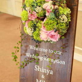 mapletable flower design - wedding WELCOME boad